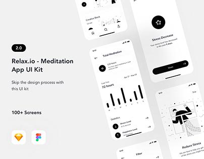 Relax.io 2.0 - Meditation Mobile Application UI Kit