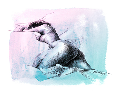 Nude female sketch