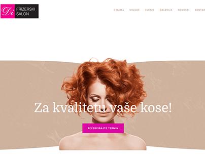 Izrada web stranice za Frizerski salon Di
