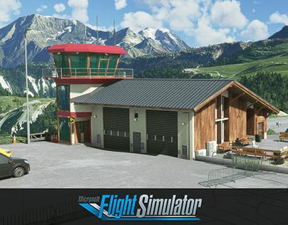 Courchevel airport Microsoft Flight Simulator