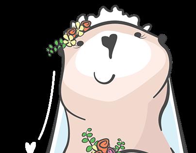 otter-ly beautiful bride