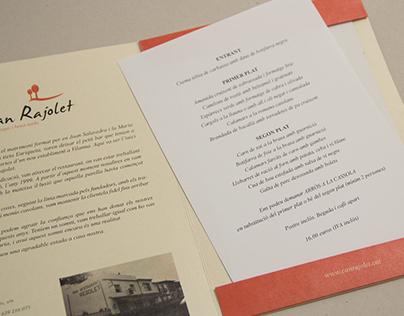 Can Rajolet Restaurant Menu
