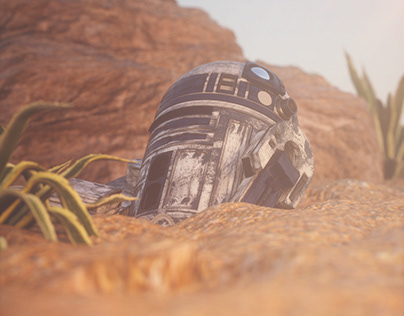 Wrecked R2D2