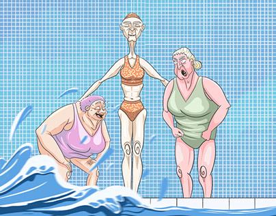 Les Grands Mères à la piscine