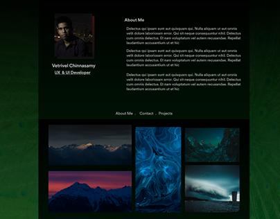 Peafowl Personal Landing Page