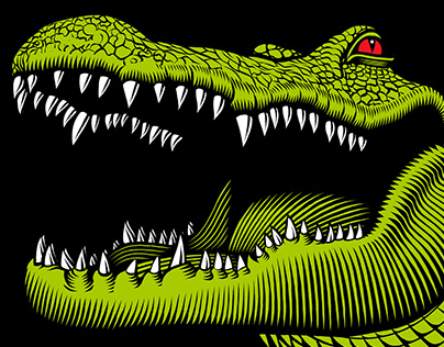 Alligator Drool Brewing Company label
