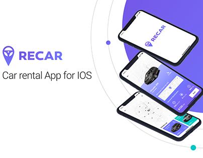 """RECAR"" Car rental App for IOS"
