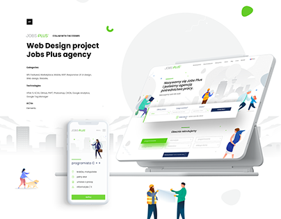 Web Design project Jobs Plus agency