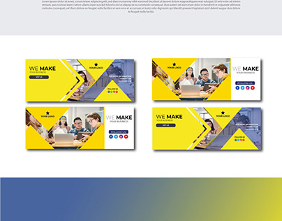 Facebook cover design template