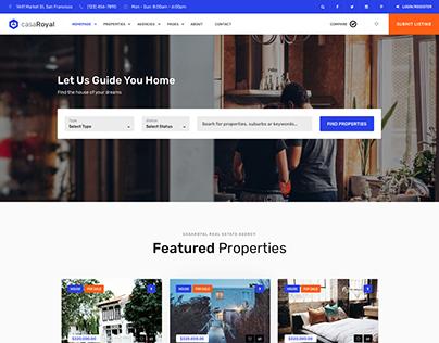 casaRoyal - Real Estate Homepage [Sketch Freebie]