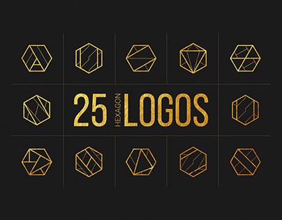 25 Linear Geometric Logos. Part I