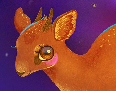 Antelope Dik-dik and Comet