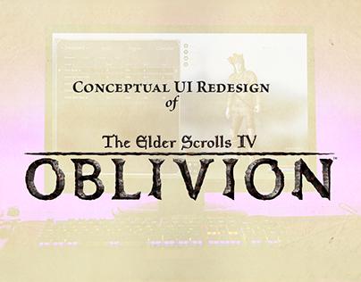 The Elder Scrolls IV: Oblivion UI Redesign Concept