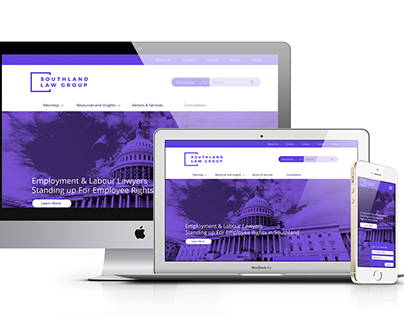 Southland Law Group // Webdesign