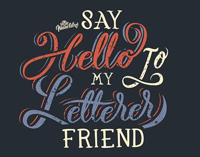 Say hello letterer