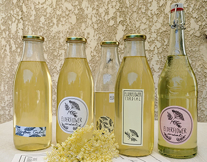 Elderflower Cordial Labels