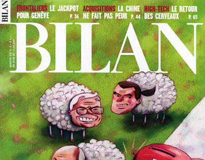Bilan Magazine, couvertures et illustrations.