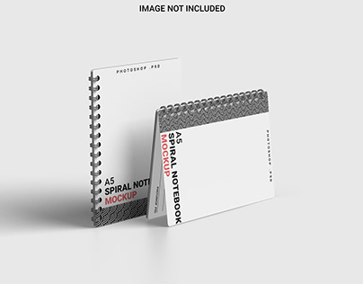 Free Spiral A5 Notebook Mockup