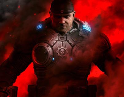 Gears of War 5 Bautista Promotional Key Art