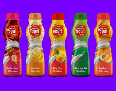 Yogurt Drink Mock-up Design