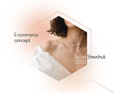 E-commerce, Concept, Online Jewelry Store