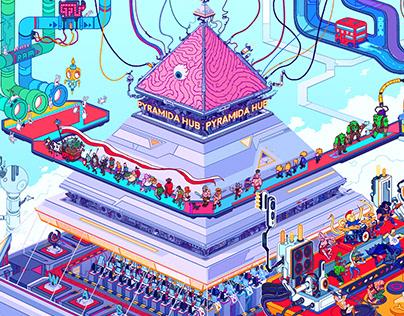 Pyramida Hub wall art