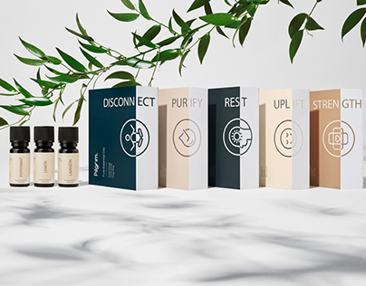 Essential Oil Bottle Labels and Iconography Design
