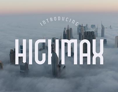 HIGHMAX | Free Typeface