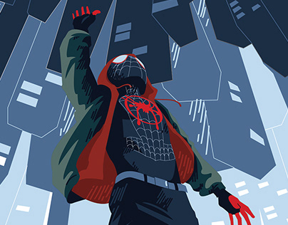 Into The Spider-Verse, vector art