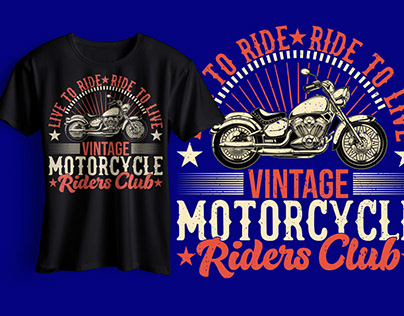 Motorcycle Riding T Shirt design