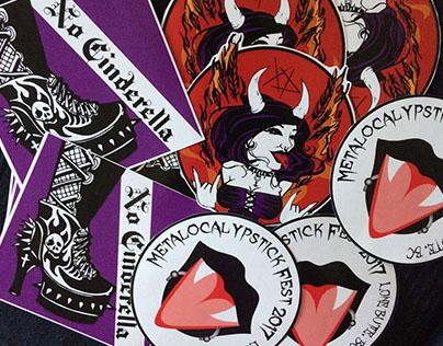 Metalocalypstick '07 Stickers