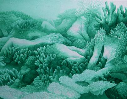 Sleeping underwater landscape