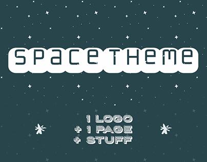 • Space theme • Logo + Homepage + Stuff