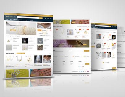 Necklace eCommerce wordpress website