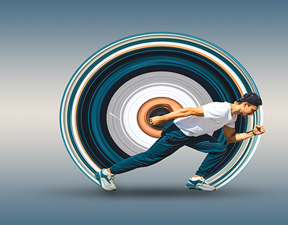 A running Circular Stretch
