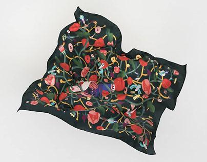 Sleeping beauty scarf
