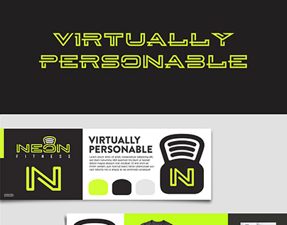 Neon Fitness Branding and Identity Design