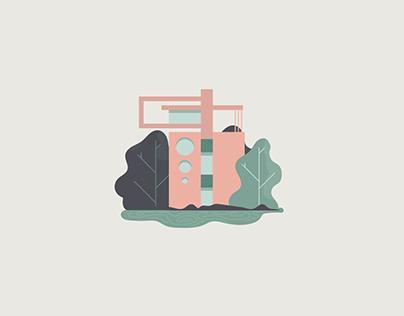 Flat Modern Architecture