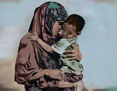 A mother and child in Somali