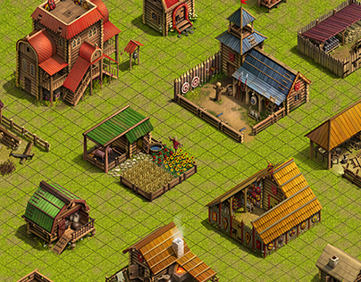 Buildings & environment for strategy game