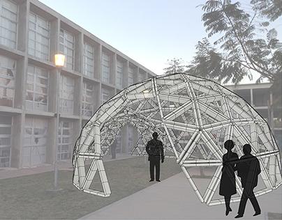 Brick Geodesic Dome