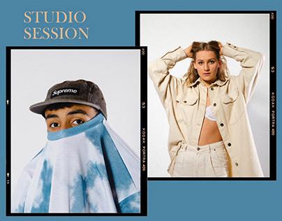 saturday evening in the studio - portrait session