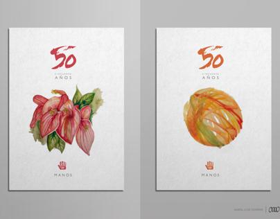 Propuesta Afiches 50 años Manos del Uruguay