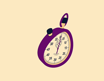 Crazy stopwatch - project realised with Cinema 4D