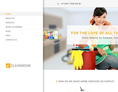 Cleanbook - PSD Template Design