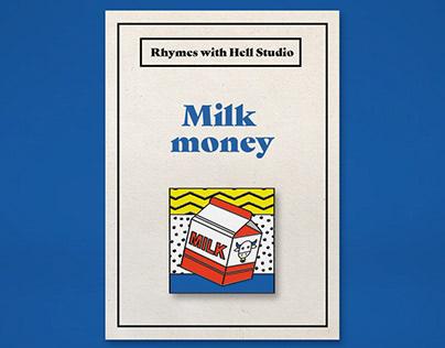 Milk Money Enamel Pins