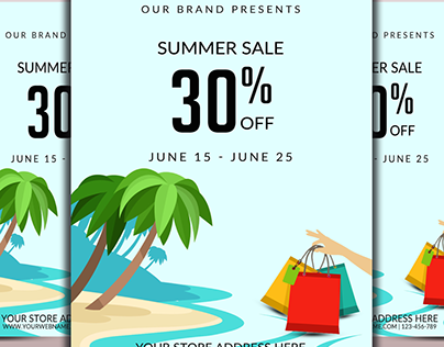 Big Summer Sale Flyer Temp