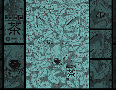 Samurillo Black Tea Illustration Art & Package Design