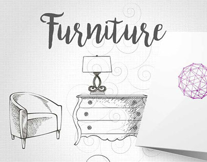 Sets of furniture, graphic drawing.