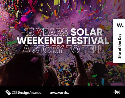 Solar Weekend Festival website 2019